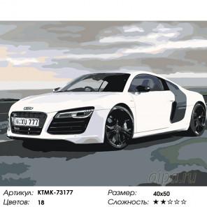 Количество цветов и сложность Белое авто Раскраска картина по номерам на холсте KTMK-73177