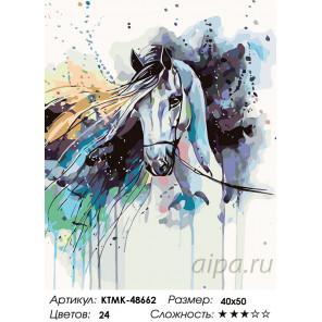 Количество цветов и сложность Красочная лошадь Раскраска картина по номерам на холсте KTMK-48662