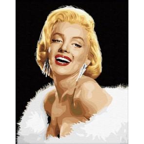 Мерлин Монро Раскраска по номерам акриловыми красками на холсте Menglei