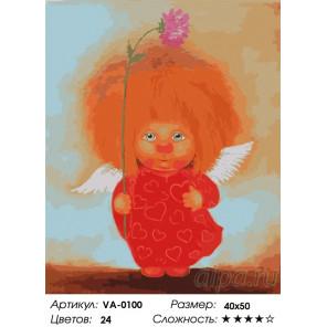 1 Влюбленный ангелок Раскраска картина по номерам на холсте