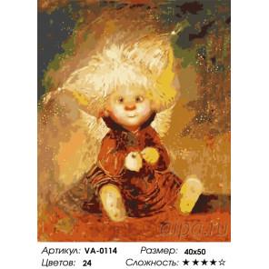 Белокурый ангелок Раскраска картина по номерам на холсте