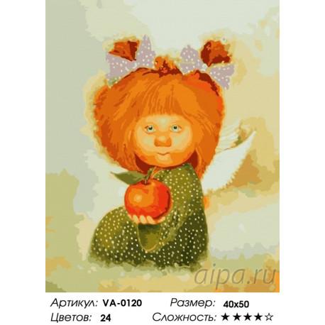1 Угощение от ангела Раскраска картина по номерам на холсте