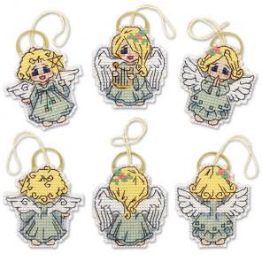 Ангелочки Набор для вышивания украшений Риолис 1778АС