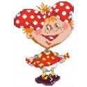 Девочка с бантом Набор для вышивания Каролинка