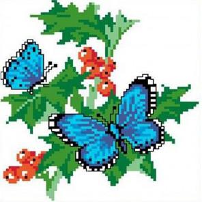 Бабочки на смородине Набор для вышивания Каролинка