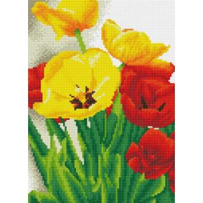 Тюльпаны Алмазная мозаика на подрамнике
