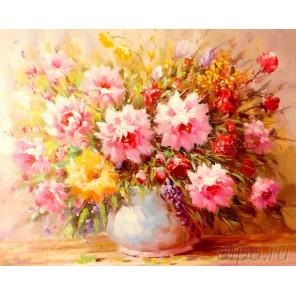 Букет нежных цветов Алмазная мозаика на подрамнике