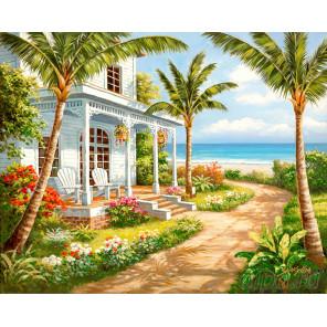 Гасиенда на берегу моря Алмазная мозаика на подрамнике