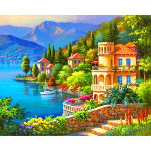 Крымский пейзаж Алмазная мозаика на подрамнике
