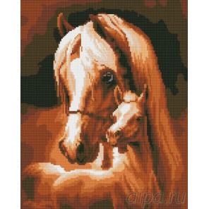 Лошадь и жеребёнок Алмазная мозаика на подрамнике