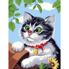 Любопытный котенок Алмазная мозаика на подрамнике