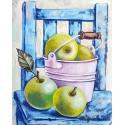Натюрморт с зелеными яблоками Алмазная мозаика на подрамнике