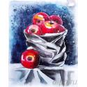Натюрморт с яблоками Алмазная мозаика на подрамнике