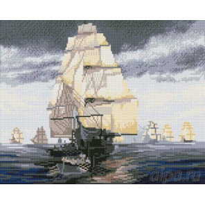 Флотилия Алмазная мозаика на подрамнике
