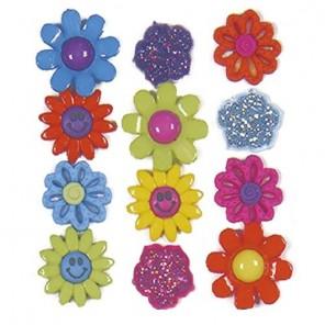 Разноцветные цветы Пуговицы декоративные Jesse James & Co
