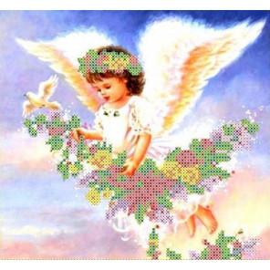 Парящий ангел Набор для вышивки бисером Каролинка
