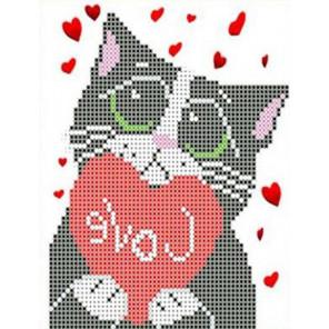 Мартовский кот Набор для вышивки бисером Каролинка
