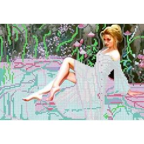 Девушка у бассейна Набор для вышивки бисером Каролинка