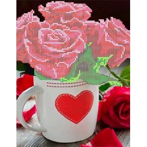 Розы для любимой Набор для вышивки бисером Каролинка