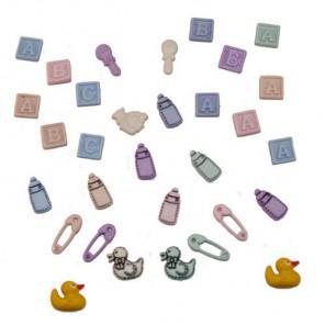 Tiny Baby Пуговицы декоративные Jesse James & Co
