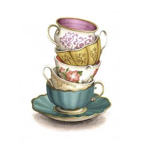 Коллекция чашек Алмазная вышивка мозаика АЖ-1437