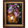 В рамке Фонарь в сирени Алмазная вышивка мозаика АЖ-1722