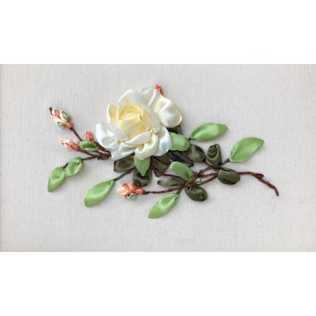 Чайная роза Набор для вышивания лентами