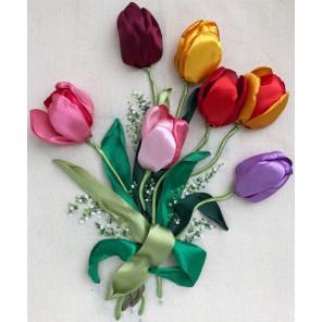 Тюльпаны Набор для вышивания лентами
