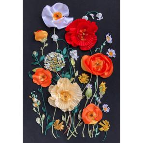 Маки в цвету Набор для вышивания лентами