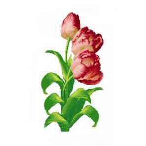 Тюльпаны Набор для вышивания Каролинка