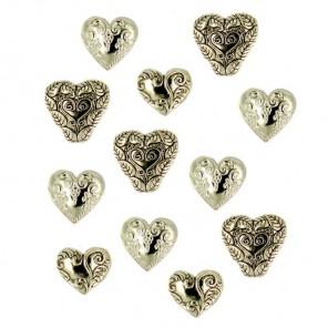 Золотые сердца Пуговицы декоративные Jesse James & Co