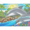 Дельфин Канва с рисунком для вышивки Каролинка