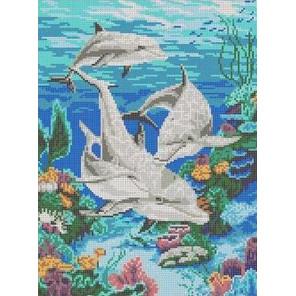Морская идиллия Канва с рисунком для вышивки Каролинка