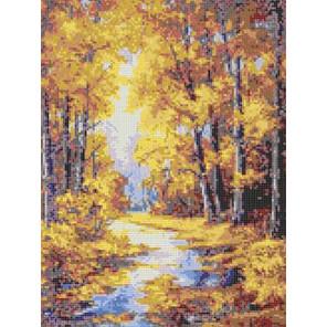 Осенние краски Канва с рисунком для вышивки Каролинка