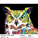 Красочная сова Раскраска картина по номерам на холсте