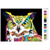 раскладка Красочная сова Раскраска картина по номерам на холсте