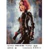 Количество цветов и сложность Девушка с характером Раскраска картина по номерам на холсте KTMK-031081