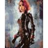 Девушка с характером Раскраска картина по номерам на холсте KTMK-031081
