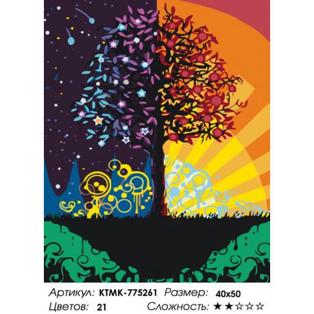 Количество цветов и сложность Дерево благополучия Раскраска картина по номерам на холсте KTMK-775261