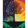 Дерево благополучия Раскраска картина по номерам на холсте KTMK-775261