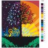 раскладка Дерево благополучия Раскраска картина по номерам на холсте