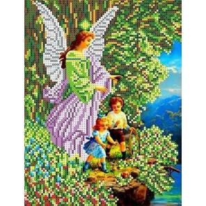 Ангел и дети Канва с рисунком для вышивки бисером