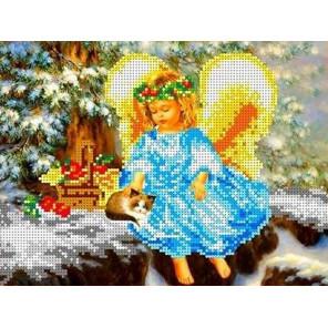 В рождество Канва с рисунком для вышивки бисером