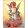 Ангел в розах Канва с рисунком для вышивки бисером