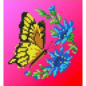 Бабочка Канва с рисунком для вышивки бисером