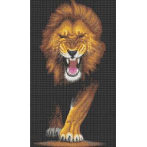 Хищники. Лев Канва с рисунком для вышивки бисером