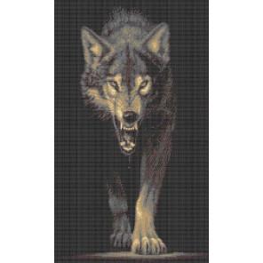 Хищники. Волк Канва с рисунком для вышивки бисером