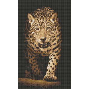 Хищники. Леопард Канва с рисунком для вышивки бисером