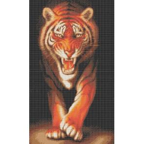 Хищники. Тигр Канва с рисунком для вышивки бисером