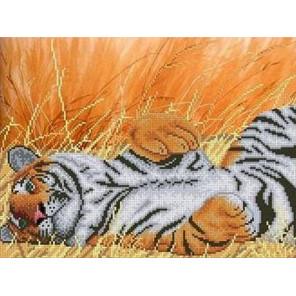 Тигр Канва с рисунком для вышивки бисером